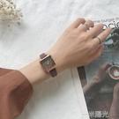 chic北歐小眾手錶女簡約氣質方形小錶盤 ins風網紅復古文藝學院風  一米陽光