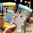 手機防水袋潛水手機套可觸屏游泳外賣卡通蘋果X華為通用女防水包 歐亞時尚