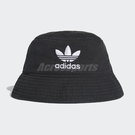 adidas 帽子 Originals Adicolor Bucket Hat 男女款 漁夫帽 三葉草 黑 白 【PUMP306】 DV0863