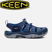 【KEEN 美國 男款 護趾涼鞋《深藍/寶藍》】1017342/水陸兩用鞋/涼鞋/休閒涼鞋★滿額送