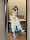 睡衣女秋冬季珊瑚絨加厚加長款睡袍浴袍甜美...