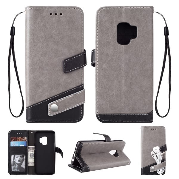 【SZ13】三星s9plus手機皮套 高檔荔枝紋手機皮套 S9手機殼 純色左右翻皮套 新款 S8 plus手機殼