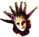 舞會面具威尼斯面具高檔手工彩繪面具-紫色 聖誕節萬聖節化妝舞會派對表演服裝道具
