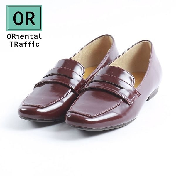 【ORiental TRaffic】復古經典方頭樂福鞋-復古咖