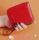 錢包ins潮對折手腕帶拉鍊錢包卡包一體女短款多功能錢夾女軟皮零錢包 愛丫