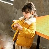 兒童棉服女 兒童公主棉服男女童羽絨棉服加絨加厚2021春新款兒童面包服【快速出貨八折搶購】
