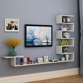 快速出貨-壁掛式電視櫃客廳墻上吊櫃壁櫃懸掛小戶型機頂盒架現代裝飾櫃墻櫃WY