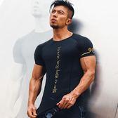 排汗衣 健身衣服套裝運動t恤肌肉背心速干衣短袖【全館免運】