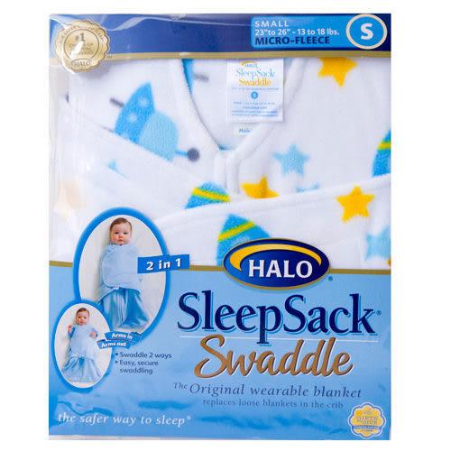 [寶媽咪親子館] 美國Halo Sleepsack 防踢包巾背心兩用 機器人 刷毛款S號