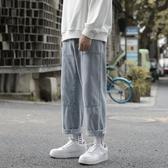 牛仔褲直筒牛仔褲男士港風ulzzang韓版潮流秋季寬鬆休閒闊腿老爹褲