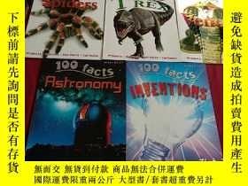 二手書博民逛書店100罕見FACTS:Spiders+Inventions+Venom+T Rex+Astronomy(5本合售)
