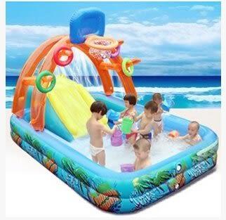 多功能兒童遊戲水池兒童遊泳池充氣城堡帶滑梯