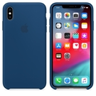 Apple iPhone XS Max 原廠矽膠護套 iPhone XS Max 原廠保護殼【天際藍色】 美國水貨 原廠盒裝