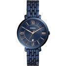 FOSSIL Jacqueline 藍色經典不鏽鋼手錶(ES4094)36mm