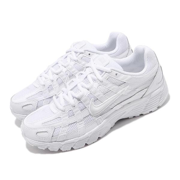 Nike 休閒鞋 Wmns P-6000 白 全白 女鞋 運動鞋 復古慢跑鞋 【ACS】 BV1021-102