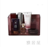 大容量透明化妝品收納盒少女面膜神器掛墻桌面護膚品壁掛式置物架IP4470【雅居屋】