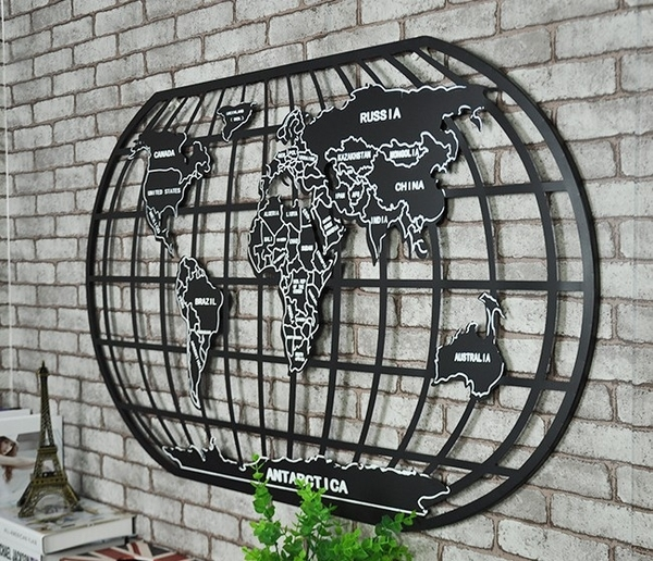 LOFT工業風世界地圖(100公分)鐵藝金屬壁牆裝飾 辦公室.酒吧.餐廳.居家鐵皮掛畫掛飾 ※僅宅配寄送
