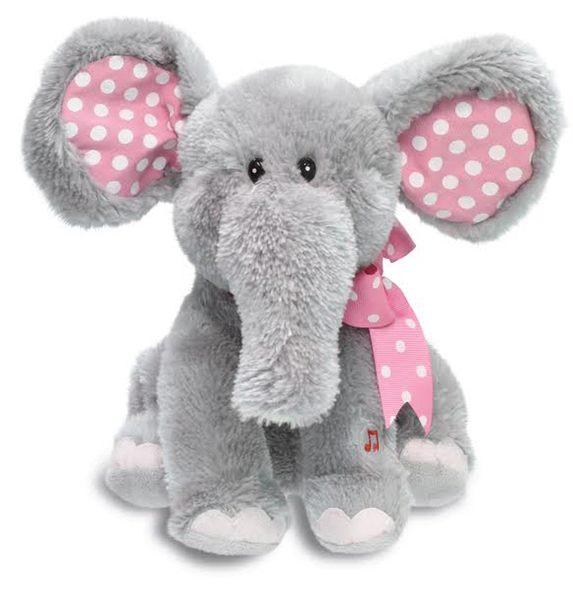 *La Joie喬依思*美國進口Cuddle Barn唱歌跳舞大象安撫娃娃(含電池)---喬依思唯一官方授權正版銷售