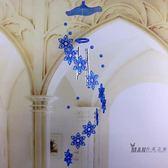 風鈴 新款創意水晶風鈴掛飾門飾可愛海豚女生兒童生日禮物臥室陽台掛飾  七夕禮物