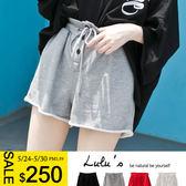 LULUS-Y-排釦抽繩衛衣短褲-4色  現+預【04060884】