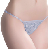 思薇爾-羽霓精靈系列M-XL蕾絲刺繡低腰丁字褲(星晨灰)