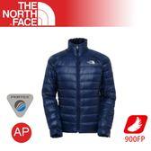【The North Face 男 900FP羽絨外套《深藍》】A54Q/保暖外套/防潑水/輕量羽絨