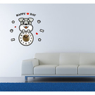 【收藏天地】RoomDeco*創意時鐘壁貼家飾-雪納瑞 /掛鐘 時鐘貼 居家 生活用品 時鐘 禮物