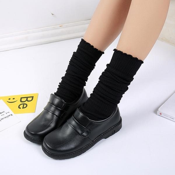 ★圓頭日系制服鞋學院風cos黑棕色JK女平跟舒適小皮鞋