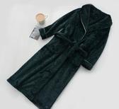 秋冬天加絨加厚保暖長袖日式女浴袍男士家居服