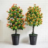 招財假樹金桔櫻桃果樹仿真植物樹盆栽大型客廳室內假花裝飾綠植【快速出貨】