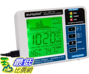[7美國直購] 二氧化碳監測儀 Hydrofarm Autopilot Desktop CO2 Monitor & Data Logger