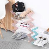 微納物語 簡易鞋架多層組裝宿舍經濟型簡約現代塑料鞋架家用WD 電購3C