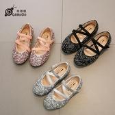 女童公主鞋皮鞋春秋潮韓版小女孩夏季水晶鞋演出秋款單鞋 聖誕交換禮物