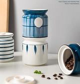 廚房收納罐 密封罐陶瓷酸菜泡菜罐蜂蜜瓶杂粮白糖零食干货带盖储物罐