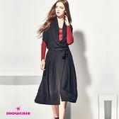 【SHOWCASE】隨性垂墜風針織背心洋裝(黑)