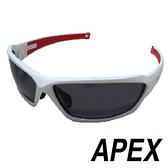 APEX J86偏光眼鏡/可加裝近視內框-白