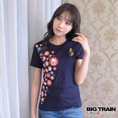 BIG TRAIN  富饒圓標夏祭女款-女-丈青/白