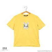 【INI】刺繡休閒、兔兔刺繡可愛氣息上衣.黃色