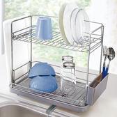 日本ASVEL流理台雙層碗盤瀝水架 / 廚房收納 收納架置物籃瀝水碗盤杯餐具筷子湯匙刀叉