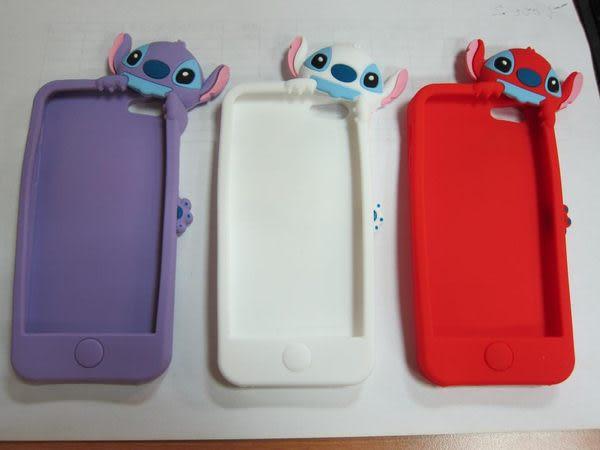 【世明國際】出清㊕價-i5s2-蘋果IPhone5立體3D趴趴史迪奇蘋果保護殼手機套卡通軟殼s3/i4