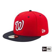 NEW ERA 59FIFTY 5950 MLB 球員帽 國民  紅/海軍藍 棒球帽