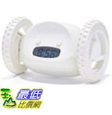 [美國直購] 會跑的鬧鐘 Clocky Alarm Clock on Wheels, White