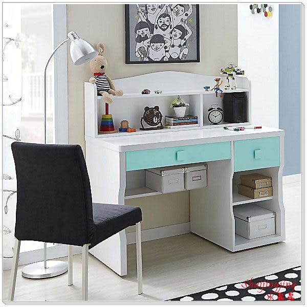 【水晶晶家具/傢俱首選】天天晴朗3.7呎雙層書桌~~椅子另購 JX8055-6