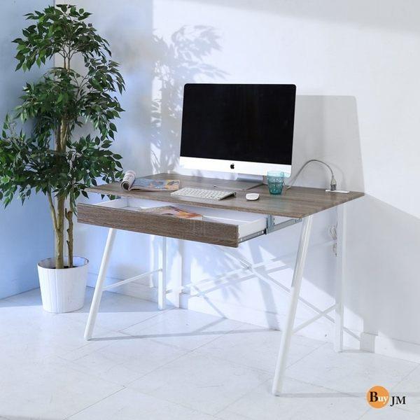 桌上架 書櫃《百嘉美》熱壓成型防潑水立體紋路大抽屜附插座面書桌/電腦桌/寬120公分