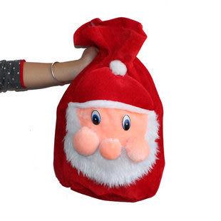 高檔超柔聖誕老人背袋135g