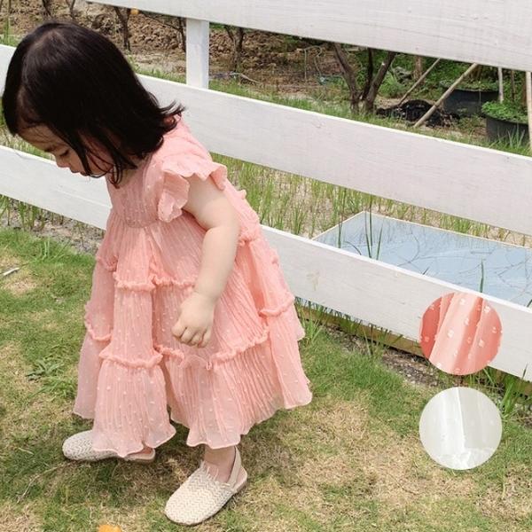 棉紗連身洋裝 連衣裙 兒童洋裝 橘魔法 Baby magic 現貨 女童 連身裙 洋裝 白色洋裝