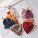 新年護耳帽 寶寶秋冬帽 童帽 寶寶帽 保暖帽 皇冠公主女寶針織帽(2歲-8歲)【ZJA014】