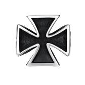 鈦鋼戒指 十字架-經典簡約百搭時尚生日情人節禮物男飾品73le137【時尚巴黎】