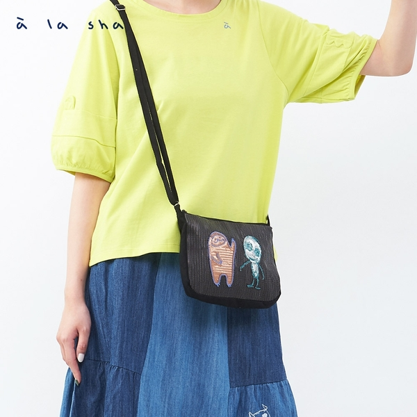 a la sha 抹茶阿財閃亮亮小包
