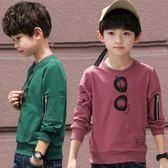 雙12購物節   男童長袖t恤秋裝2018新款上衣兒童裝小衫10歲體恤潮衣12春秋韓版   mandyc衣間